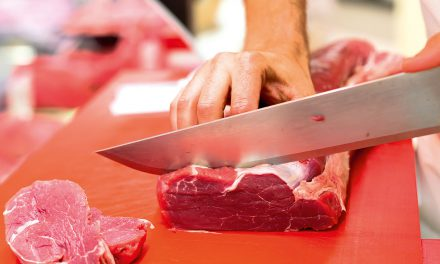 Chopping meat by hand — the single-knife method